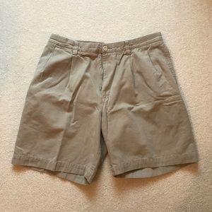 Nautica khaki flat front shorts